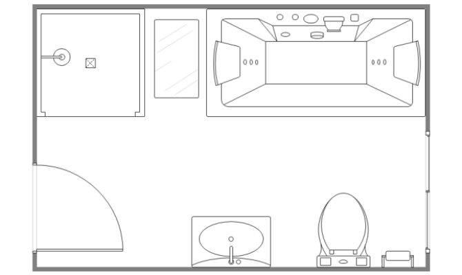 Simple Bathroom Design Templates