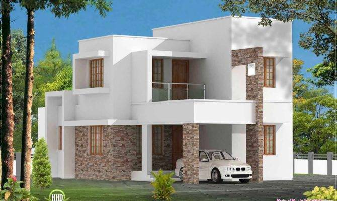 Simple Bed Room Contemporary Villa Kerala Home Design Floor