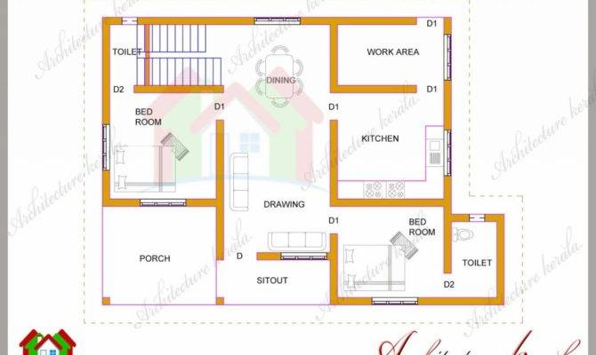 Simple Bedroom House Plans Kerala Style