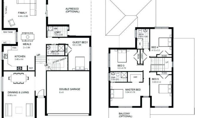 Simple Bedroom House Plans Without Garage