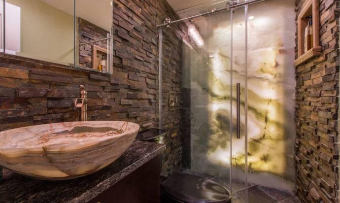 Simple Brick Bathroom Make Decor More Attractive