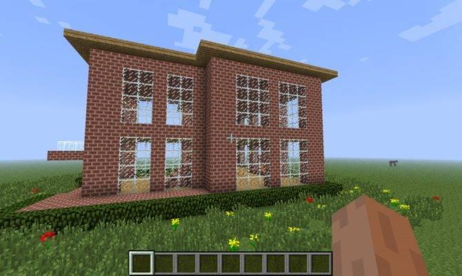 Simple Brick House Minecraft Project