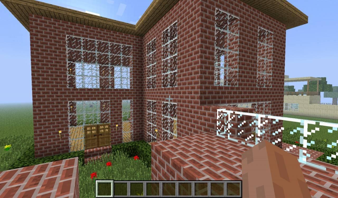 как построить в майнкрафте кирпичный дом на сайте мир #9