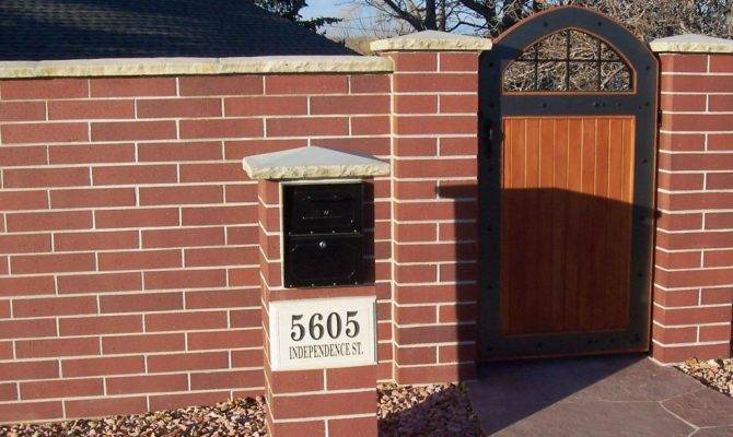 Simple Brick Mailbox Designs Plans Three Lab