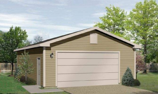 Simple Classic Two Car Garage Architectural