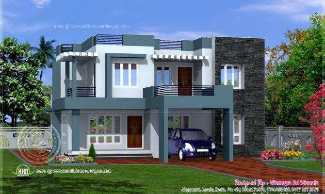 Simple Contemporary Style Villa Plan House Design Plans