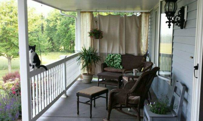 Simple Country Style Porch Diy Pinterest