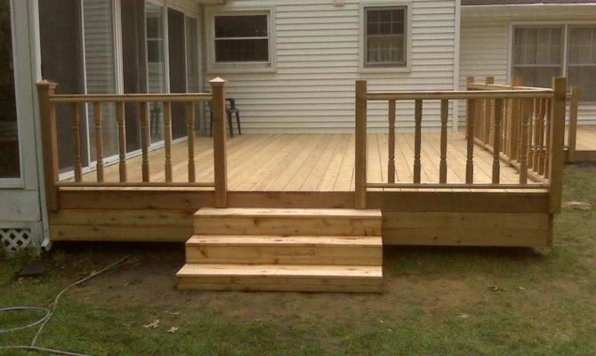 Simple Deck Ideas Cedar Img New