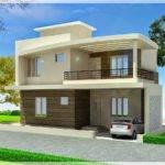 Simple Duplex House Design Modern Plan