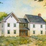 Simple Farmhouse Design House Plans American Homestead