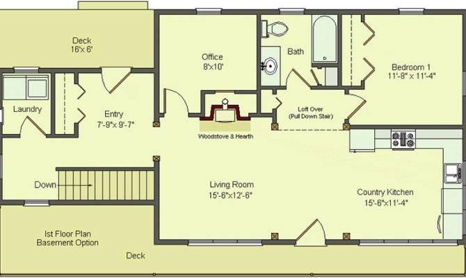 Simple Floor Plans Basement Walk Out House Plans 46372