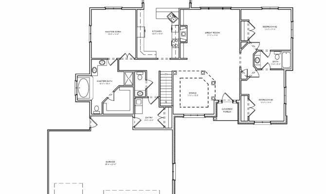 Simple Floor Plans Bedroom House Three