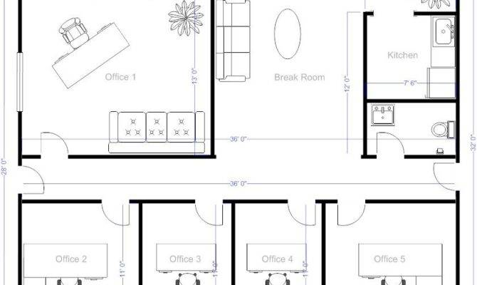 Simple Floor Plans Office Layout Software