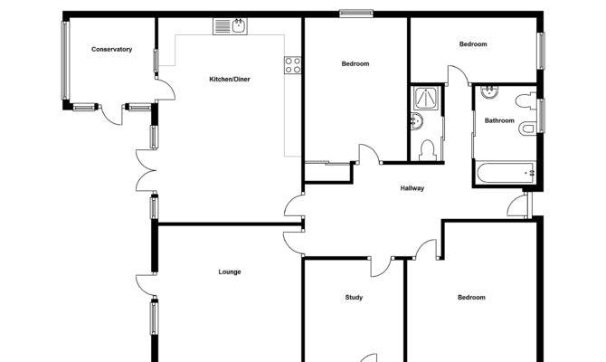 Simple Four Bedroom Flat Bungalow Diy Woodworking Plans