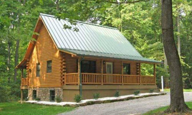 Simple Front Porch Log Cabin Wrap Around