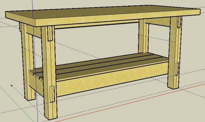 Simple Garage Workbench Plans Build Brick Pizza Oven