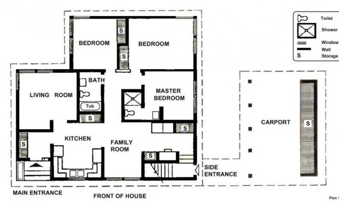 Simple House Blueprint Two Bedrooms