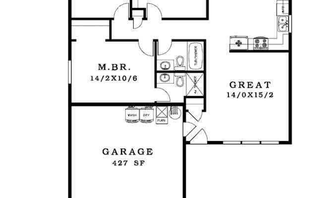 Simple House Floor Plan Drawing Small