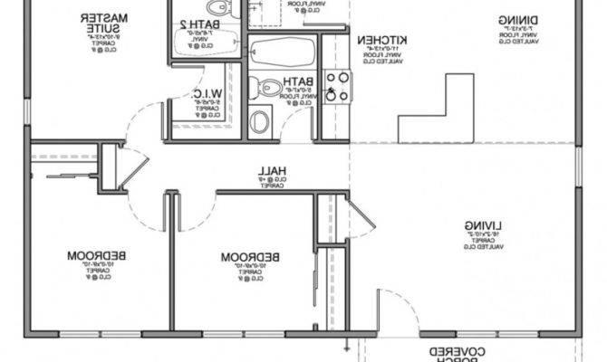 Simple House Floor Plan Drawing