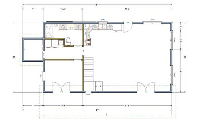 Simple House Floor Plan Making Most Small