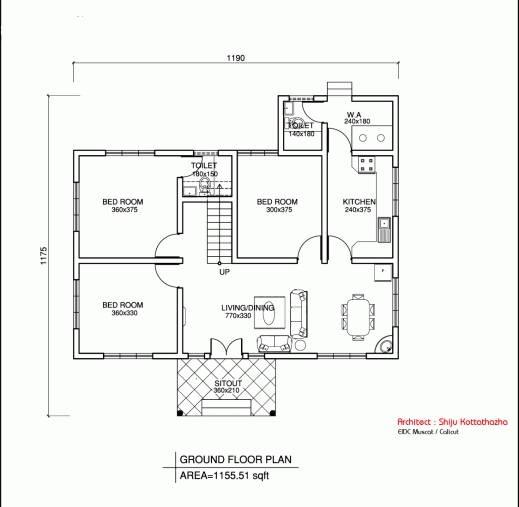 Simple House Floor Plan Measurements Plans House Plans 123356