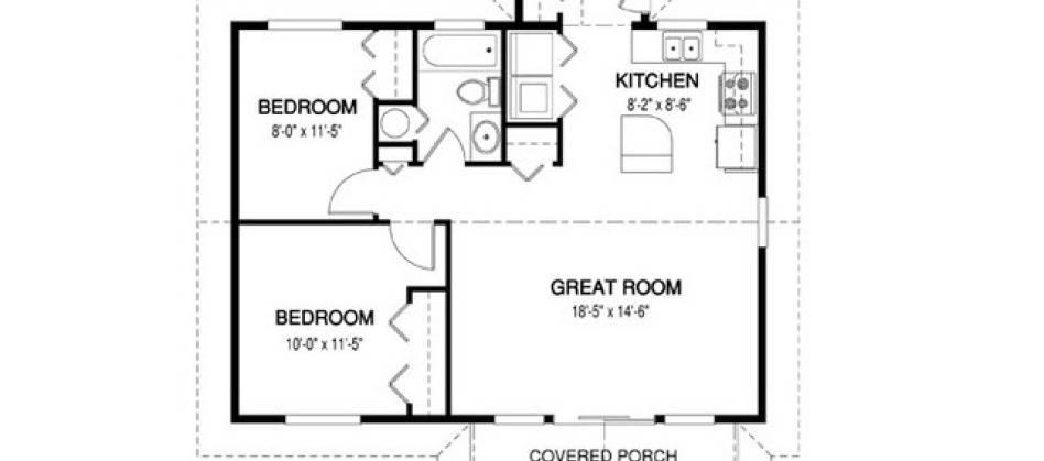Simple House Floor Plan Measurements Plans House Plans 92567