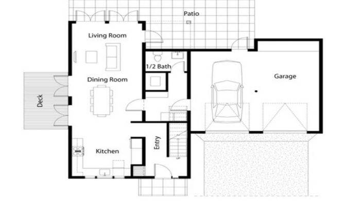 Simple House Floor Plan Square Plans
