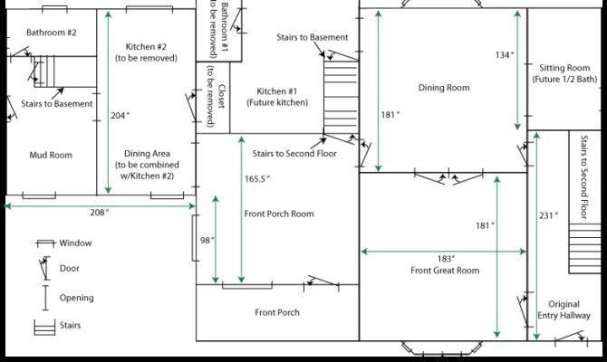 Simple House Floor Plans Measurements