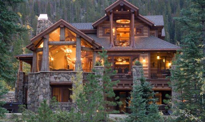 Simple Log Cabin Interior American