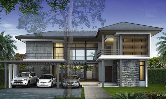 Simple Modern Tropical House Design