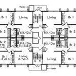 Simple Multi Homes Floor Plans Placement
