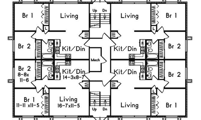 Simple Multi Homes Floor Plans Placement