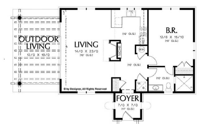 Simple One Bedroom House Plans Home Homepw Square