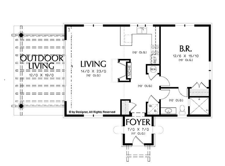 simple one bedroom house plans home homepw square  house