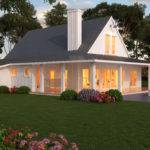 Simple One Story Farmhouse Plans Beds Baths