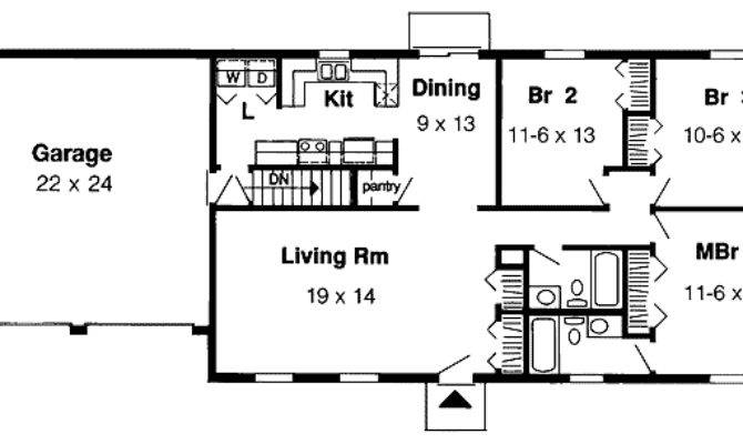 Simple One Story Floor Master Suite Cad