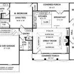Simple One Story House Plan Two Master Wics Big Kitchen