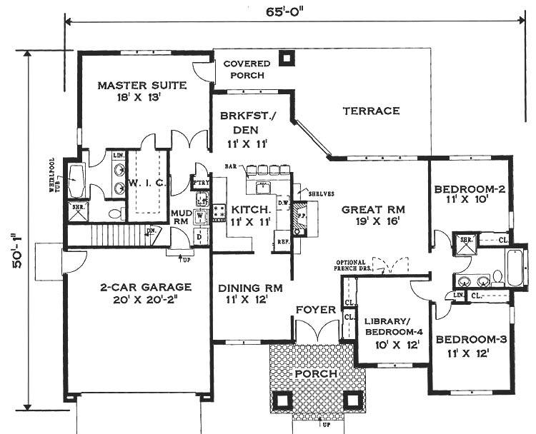 Simple One Story House Plans Storey Home Floor Plan House Plans 85548