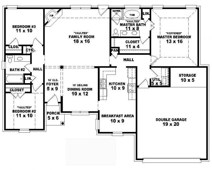 Simple One Story House Plans House Plans 87058