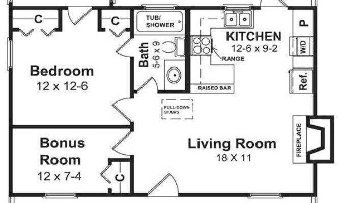 Simple Open Floor House Plans