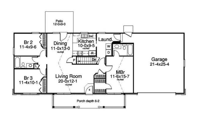 Simple Ranch House Plans Basement Inspirational