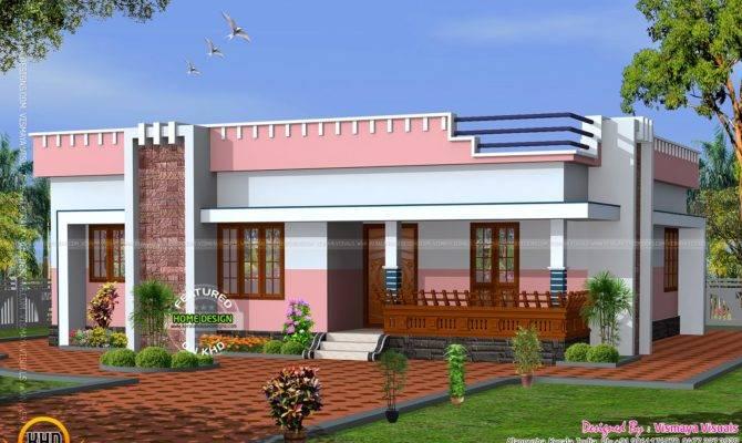 Simple Small Flat Roof Home Kerala Design Floor Plans