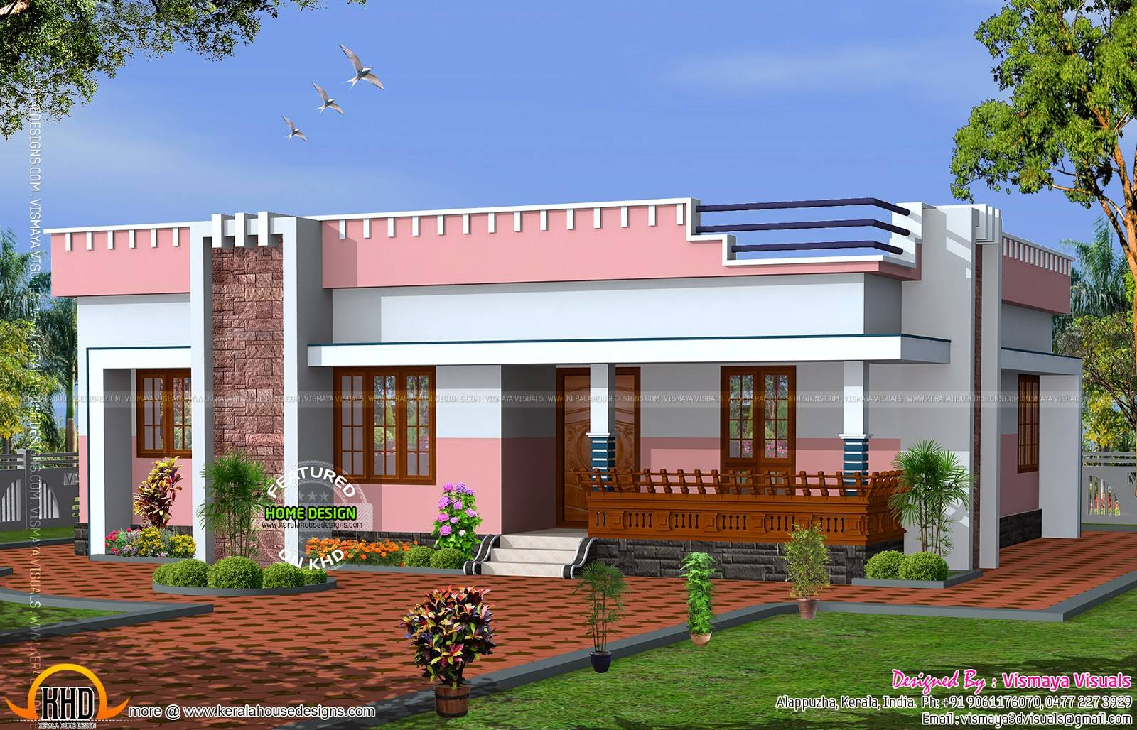 Simple Small Flat Roof Home Kerala Design Floor Plans House Plans 71236