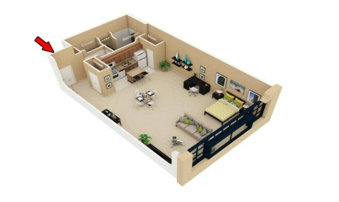 Simple Studio Apartment Floor Plans Youtube