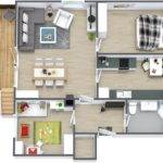 Simple Two Bedroom House Plan Interior Design Ideas