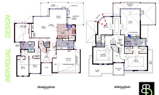 Simple Two Floor House Blueprints Story Home Designs
