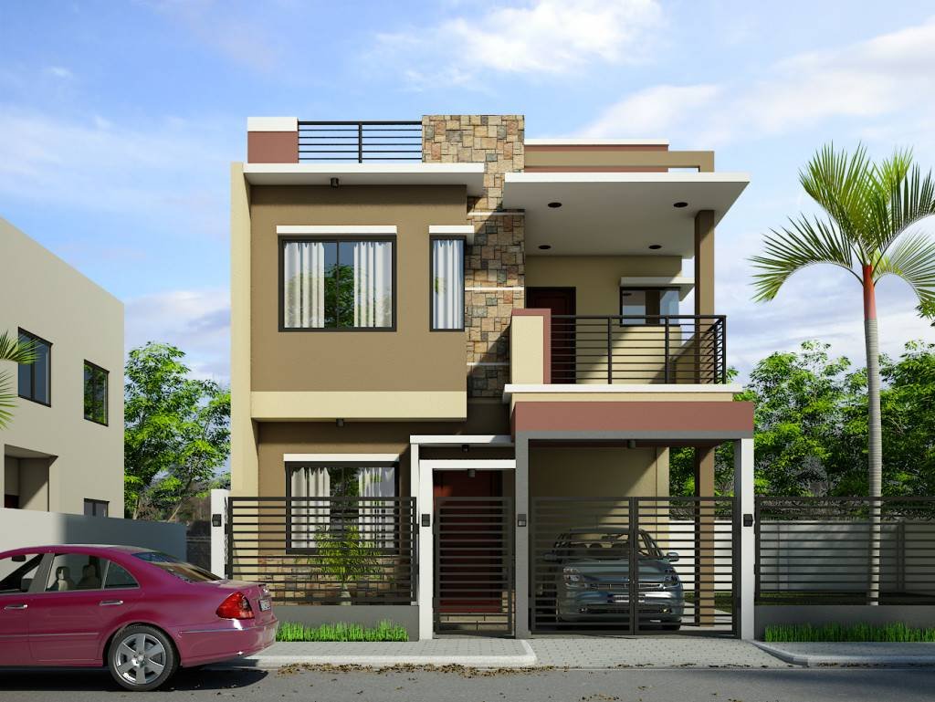 Simple Two Story House Design - House Plans | #168927