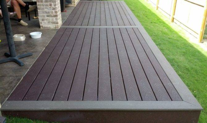 Simple Two Tone Composite Deck Landscape Design