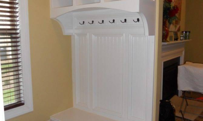 Simple White Mudrooms Window Bench Seat Design