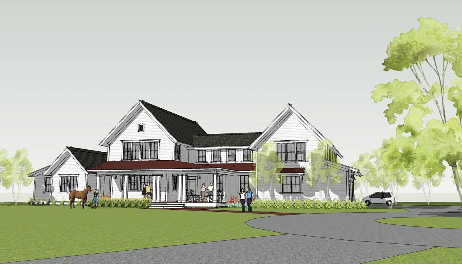 Simply Elegant Home Designs Blog Modern Farmhouse Ron Brenner House Plans 61281
